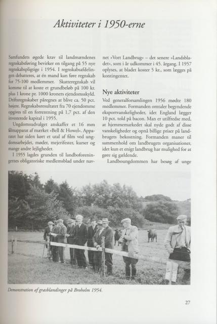 Sv. & Omegns landbf 1901-2001 - Aktiviteter i 1950-erne