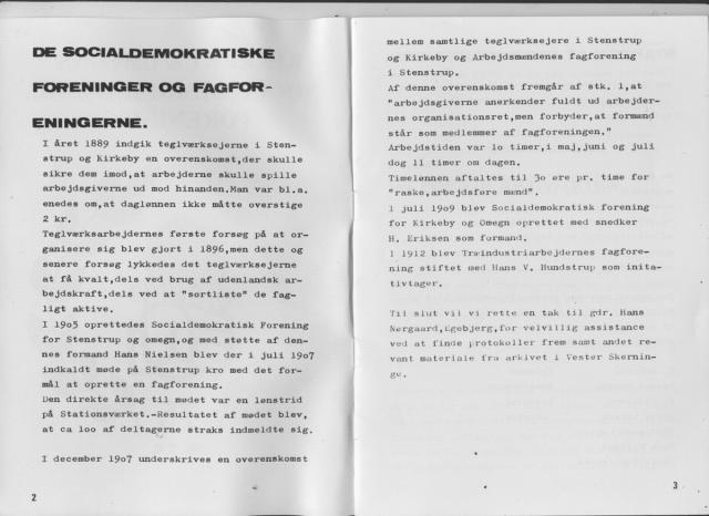 Kirkeby & Omegns Socialdemokratiske Forening 1909-1984 (2)