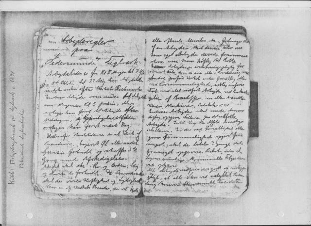 Arbejdsregler 1894 på Petersminde Teglværk