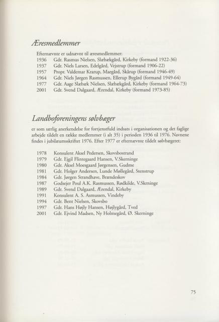 Sv. & Omegns landbf 1901-2001 - Æresmedlemmer