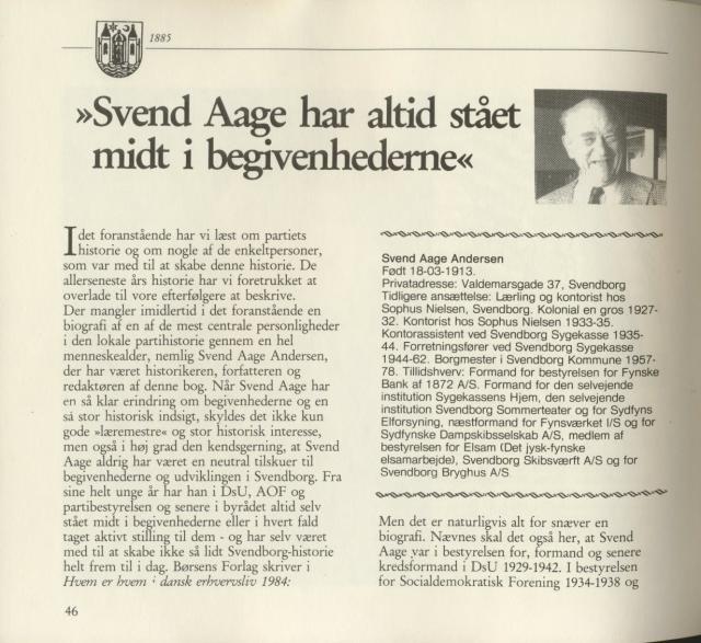 Borgmester Svend Aage Andersen