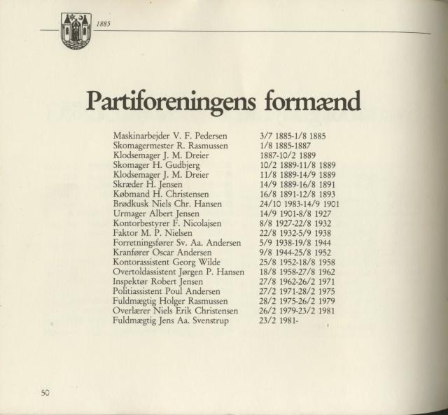 Svendborg Socialdemokratiske Forening - formænd