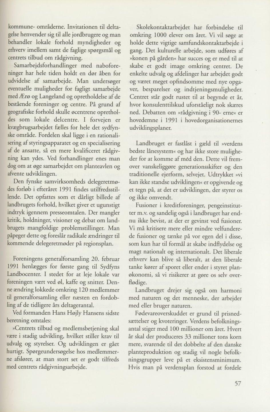 Sv. & Omegns landbf 1901-2001 - Det sydfynske bondeoprør (7)