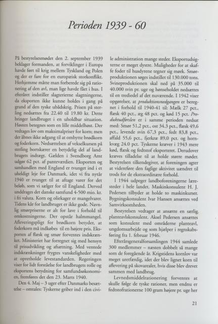 Sv. & Omegns landbf 1901-2001 - Perioden 1939-60