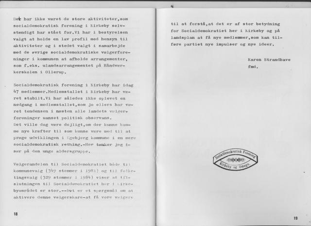 Kirkeby & Omegns Socialdemokratiske Forening 1909-1984 (10)
