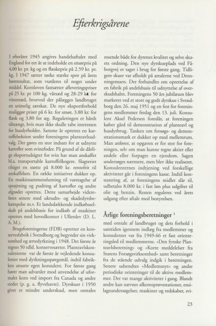 Sv. & Omegns landbf 1901-2001 - Efterkrigsårene