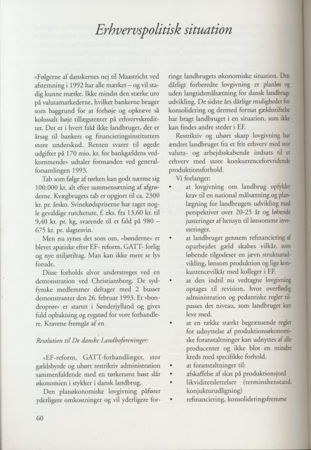 Sv. & Omegns landbf 1901-2001 - Udviklingen 1992-94