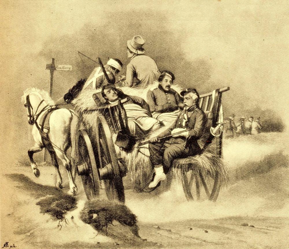 Sårede soldater i Treårskrigen