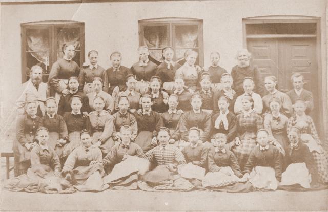 Højskole elever i 1870erne - de grundlagde den danske andelsbevægelse