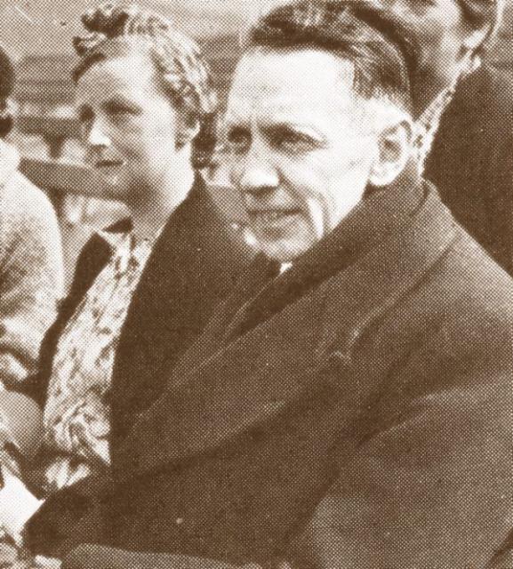 Lise og Kaj Munk ved elevmødet i Ollerup 1943