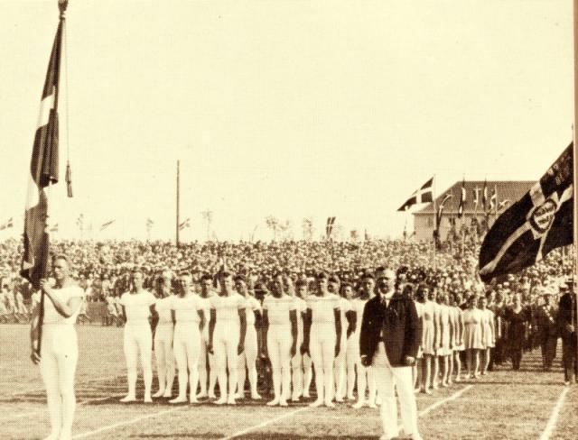 Stadion indvielse i 1923 v. Ollerup Gymnastikhøjskole