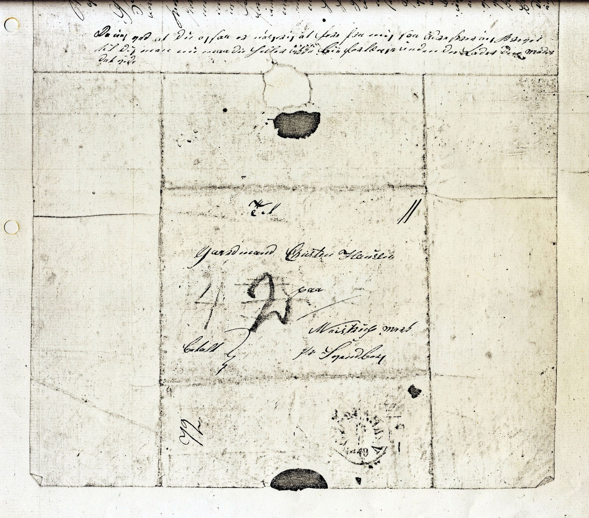 Politiker Hans Christensen brev 16.-1- 1849