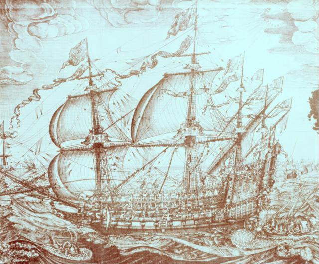 Et af Christian IV's orlogsskibe
