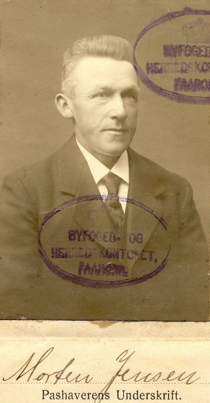 Gårdejer Morten Jensen (1872-1960), Bernekilde, Vester Skerninge