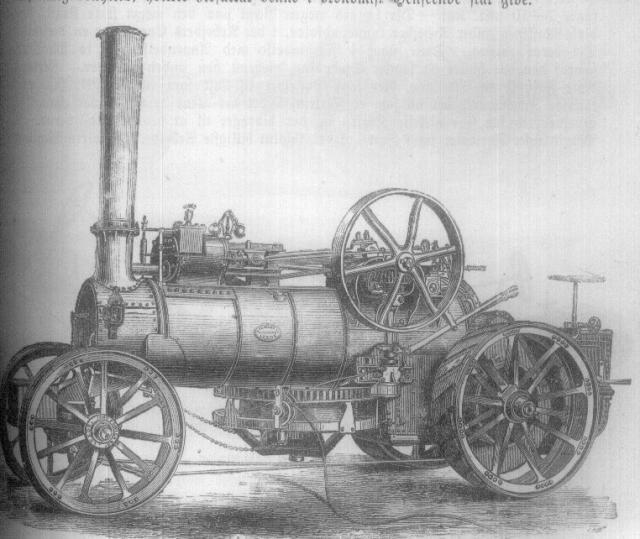 En af John Fowler's lokomobil'er