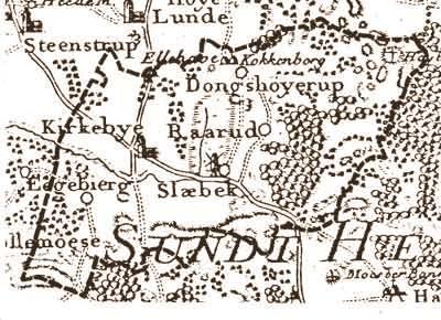 Odense-Svendborg gl. landevej ved Kirkeby