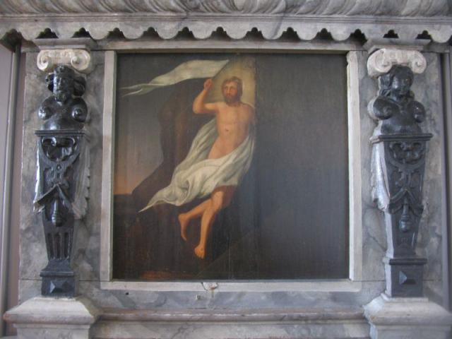 Gl. altertavle - Egense kirke