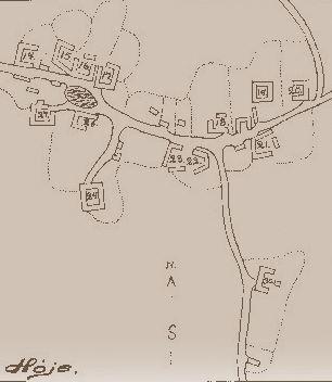 Høje by - Rekonstrueret kort 1795