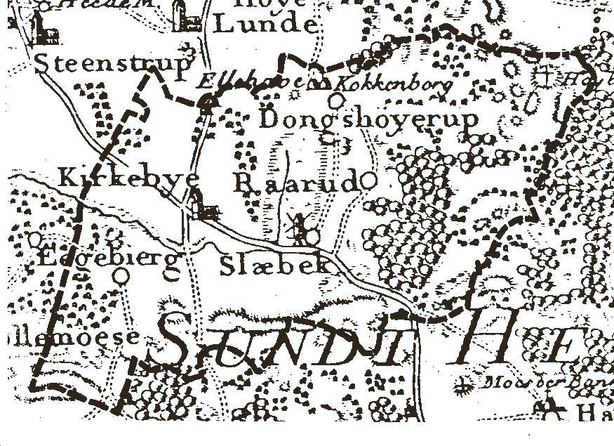 Kort over Kirkeby sogn 1780-83