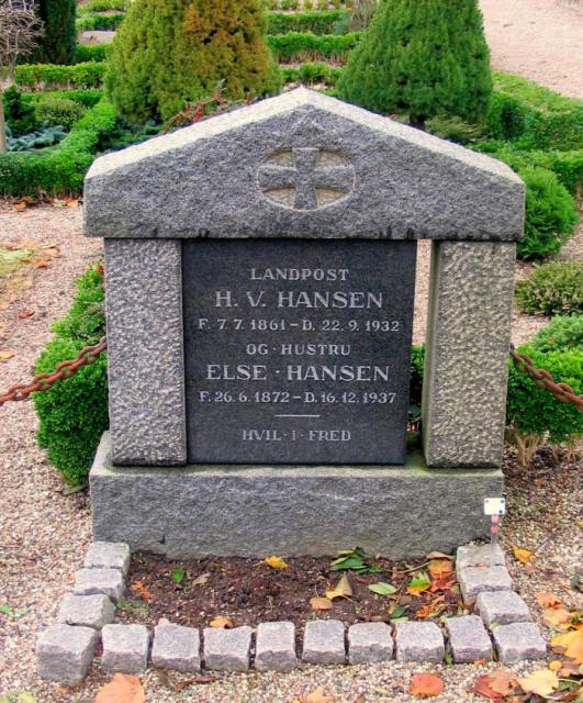 Landpost H.V. Hansen - Vester Skerninge kirkegård