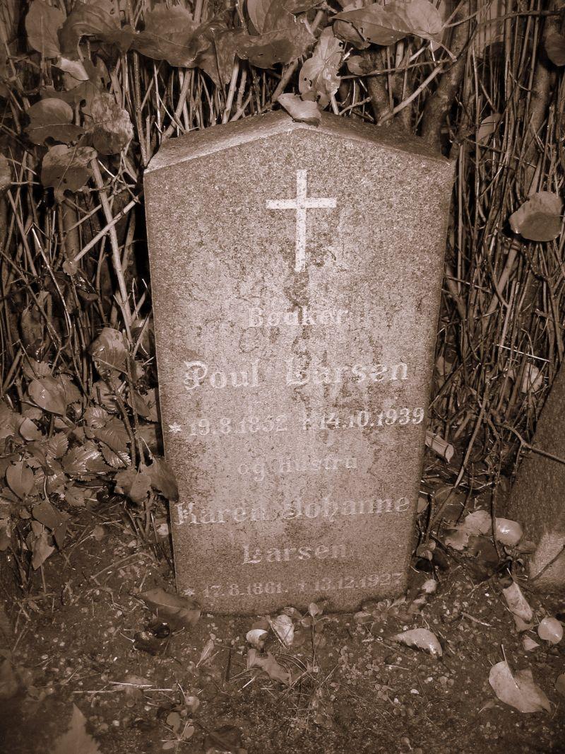 Gravsten bødker Lars Rasmussen Lunde kirkegård