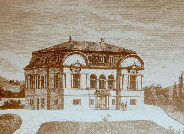 Den nye Avlsgård Margretesminde, tegnet 1868 af Knud Borring