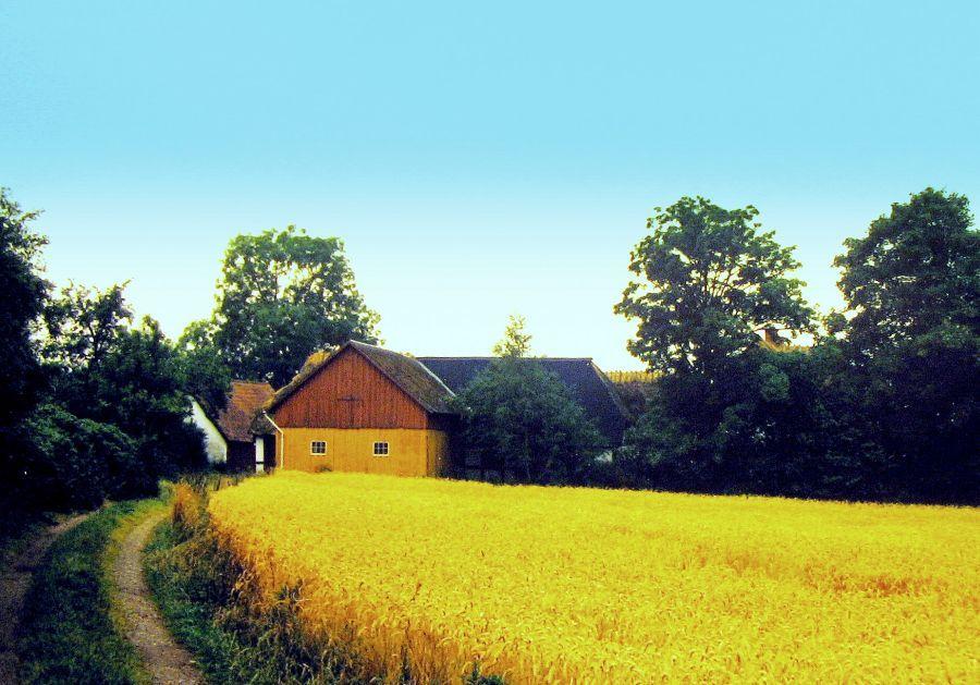 Møllegård i Egebjerg før den seneste modernisering