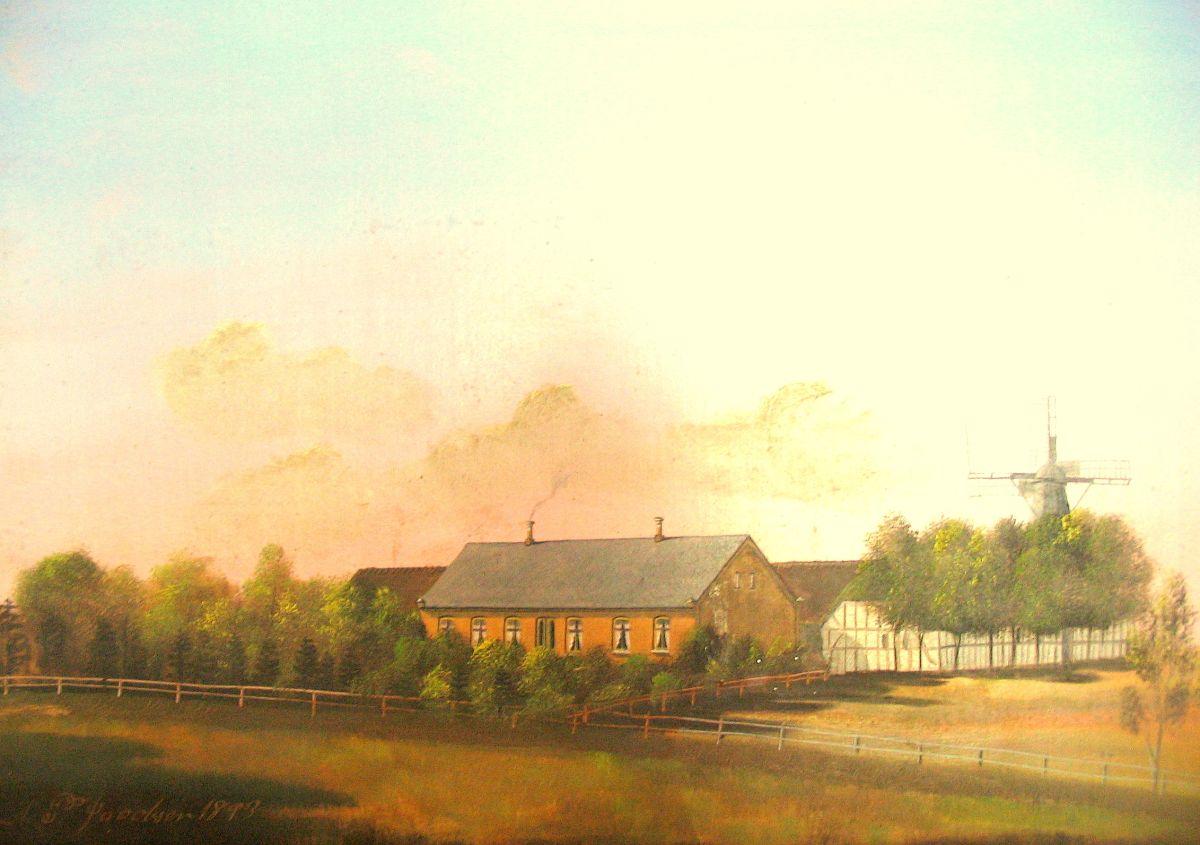 Nørregård i Dongshøjrup, malt 1899