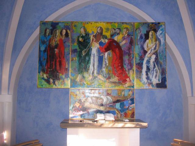 Den nye altertavle i Øster Skerninge kirke
