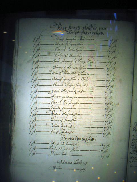 Højebøndernes oldengæld til Nyborg Slot 1611