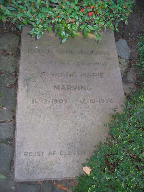 Lærer Peder Emil Marving Ollerup kirkegård