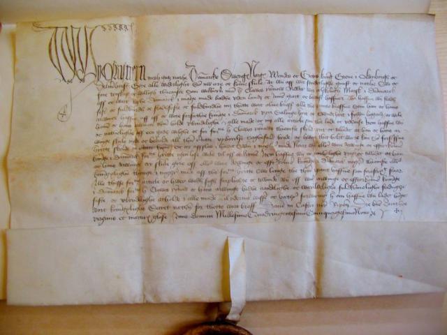 Pergament 1459 Claus Rønnow (RA)