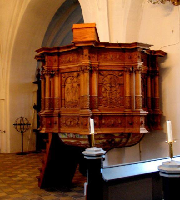 Prædikestol Kværndrup kirke
