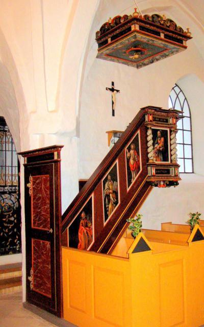Prædikestol fra 1707 - Tved kirke