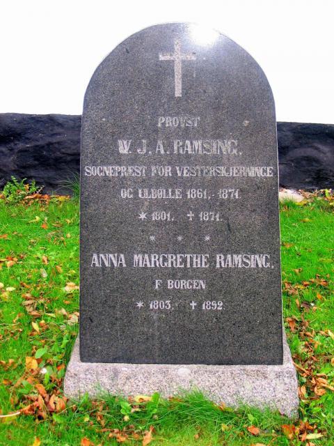 Provst W.J.A. Ramsing  Vester Skerninge kirkegård