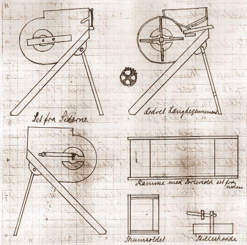 Niels Jensen - rensemaskine fra 1830