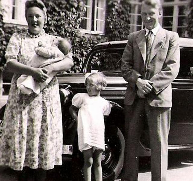 Birthe Dinesen med forældrene ved Ringsted sygehus