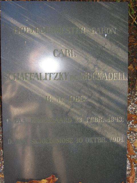 Baron Schaffalitzky de Muckadell Skjoldemose - Ollerup kirkegård