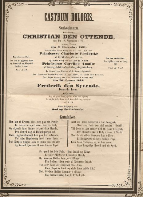 Castrum Doloris - kong Christian VIII