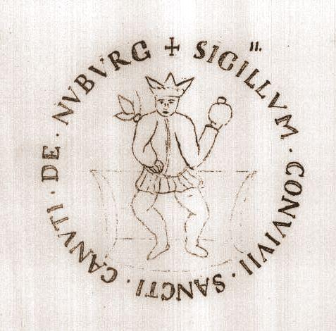 Klokke 1504 Stenstrup kirke - Nyborg Skt. Knudsgildes segl