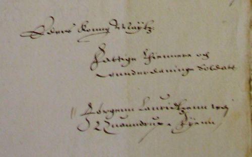 Bonde Jørgen Lauritsens brev til Christian IV 1617