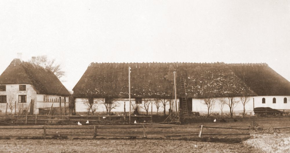 Skovgård i Egebjerg - gården ombygget 1841 og nedbrændt 1937