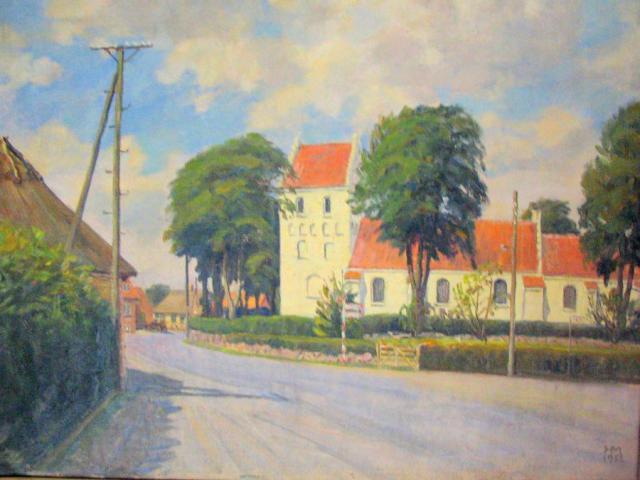Hjørnet af Stenstrup gl. præstegård og kirken