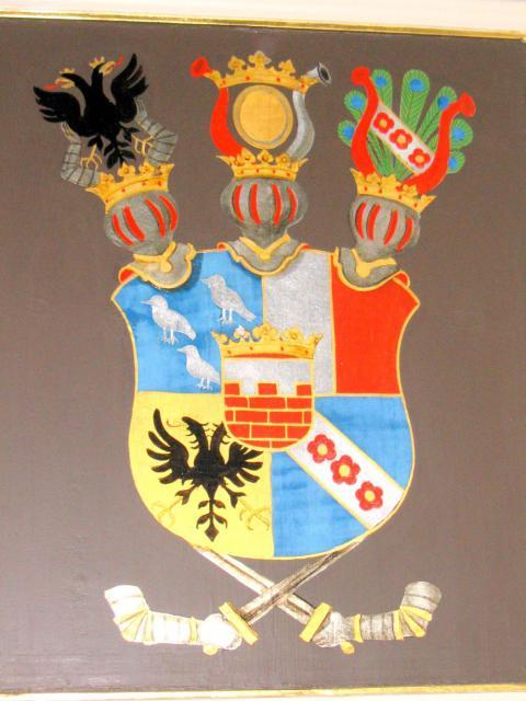 Våben - adelsstol i Brahetrolleborg kirke