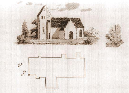 Vester Skerninge kirke 1864