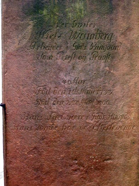 Gudbjerg kirkegård - provst Niels Wamberg (+1800)